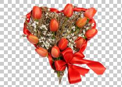 郁金香花束光栅图形,郁金香心花束PNG剪贴画插花,心,破碎的心,花,