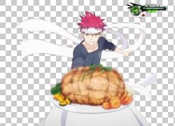 食物大战!,Shokugeki没有Soma动漫烹饪漫画,动漫PNG剪贴画食品,