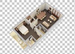 3D平面图房子计划,迷你高尔夫PNG剪贴画建筑,公寓,房间,计划,室内图片