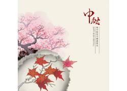 枫叶中秋节背景