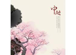水墨中秋节背景 中国风背景