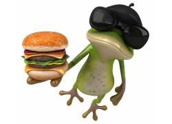 汉堡和蜥蜴高清图片