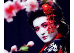 美丽日本艺伎摄影图片