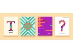 彩色卡通线条几何封面