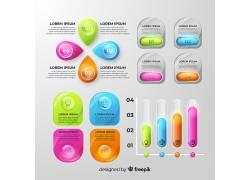 彩色的柱形并列图表图片