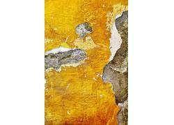 黄色灰色斑驳墙壁纹理背景图片