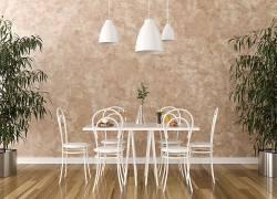 室内设计效果图咖啡厅花卉吊灯桌子椅子木 木地板