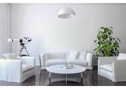 室内设计吊灯圆桌书眼镜花卉摄影效果图