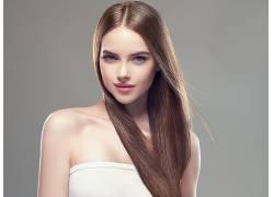 人脸化妆品染发,金色头发