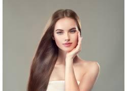 脸 人化妆品染发金色头发
