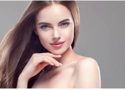 肖像染发 金色头发 画脸 人 化妆品