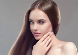 长头发染发金色头发画脸人化妆品