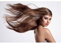 长发模特图片
