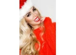 圣诞整容整形迷人美女