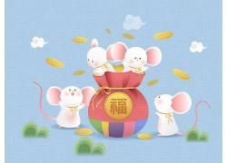节庆装饰小白鼠福鼠年元素素材 (5)