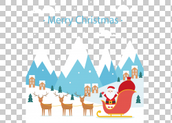 圣诞老人驯鹿图片