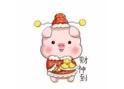 猪年表情包财神到图片