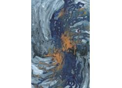 蓝色抽象颜料油画