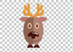 卡通圣诞麋鹿图标PNG剪贴画图片