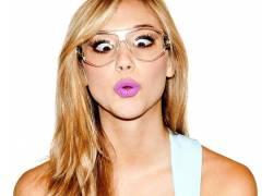 Alexis Ren,女性,女人,美女,眼镜,戴眼镜的女性,女人,美女,粉红色