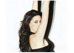 Amber Heard,胳膊,黑发,白色背景,演员,看着观众,模特,美女29359