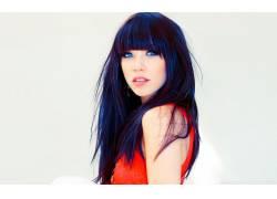Carly Rae Jepsen,女性,女人,美女,歌手,黑发,蓝眼睛,看着观众,面