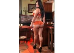 Satinee Capona,女性,女人,美女,黑发,衩,屁股,腿,PinupFiles.com