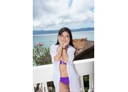 Luvian Ben Neng,亚洲,女性,女人,美女,常设,比基尼泳装,在户外,