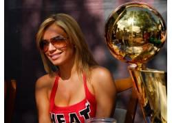 NBA,体育,篮球,迈阿密,迈阿密热火,啦啦队,戴眼镜的模特,美女3491