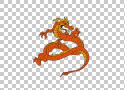 龙,红色日本海报材料PNG剪贴画龙,橙色,海报,日本食品,脊椎动物,图片