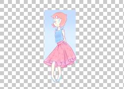 连衣裙童话粉红色M卡通,连衣裙PNG剪贴画儿童,时尚插画,卡通,虚构
