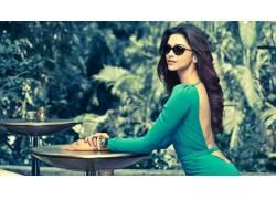 迪皮卡帕托科内,宝莱坞,名眼镜,印度墨镜,女性,女人,美女,黑发,长