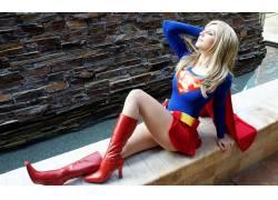 动漫,超级英雄,女性,女人,美女,角色扮演,超女,服装,金发,人物,靴
