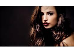 黑发,人物,女性,女人,美女,照片处理,面对,红唇膏,长发69174