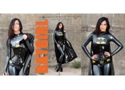 胶乳,女性,女人,美女,黑发,紧身胸衣,蝙蝠女,角色扮演,超级英雄,