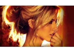 肯德尔米克尔,女性,女人,美女,人物,金发,面对,肖像,轮廓,彼得阮2