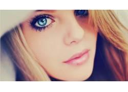 蓝眼睛,金发,特写,眼睛,看着观众,面对,女性,女人,美女,人物10682