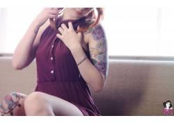 拉斯,黥,紅發,模特,美女63823