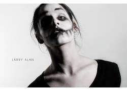 拉里艾倫,化妝,模特,美女17874