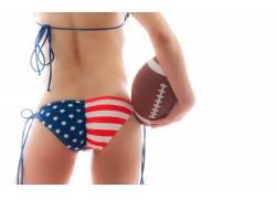 美式足球,女性,女人,美女,比基尼泳装,旗内裤,衩36007