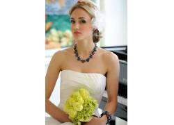 娜奥米凯尔,婚纱礼服,金发,裸露的肩膀,手镯,钢琴,女性,女人,美女