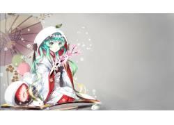 动漫,动漫女孩,初音未来,VOCALOID,传统服装,Yuki Miku,动漫58581图片