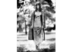 女性,女人,美女,杰玛阿特登,连衣裙,单色,户外的女演员,常设626