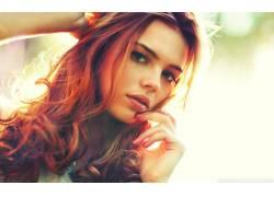 女性,女人,美女,红发,人物,面对,卷发,张开嘴,看着观众,长发27805