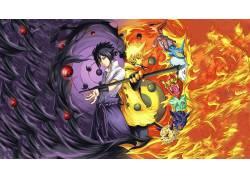 动漫,火影忍者疾风传,漩涡鸣人,宇智波佐助,Rinnegan,动漫男孩,漫图片