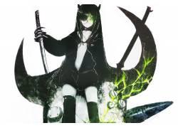 动漫,黑岩射手,黑魔鬼女孩,动漫女孩,剑,眼镜,动漫9580图片