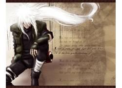 动漫,火影忍者疾风传,自来也,白色的头发,动漫男孩46974图片