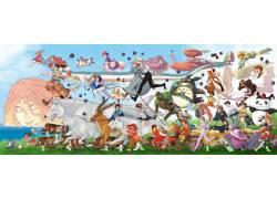 动漫,吉卜力工作室,龙猫,千与千寻,天空之城,幽灵公主,哈尔的移动图片
