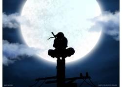 动漫,火影忍者疾风传,宇智波鼬,ANBU,轮廓,月亮,电力线路,动漫137图片