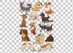 西部高地白梗哈巴狗狗小狗猫,卡通狗PNG剪贴画卡通人物,哺乳动物,图片